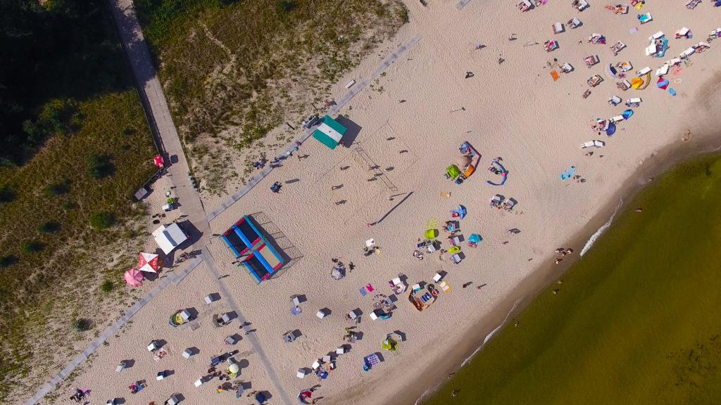 Luftaufnahme Volleyballstrand Usedom